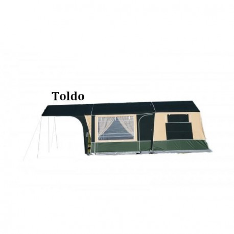 Sun canopy/ Doble Awning Compact linea Desert