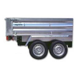 Remolque de carga paletizable 2500 tandem con freno