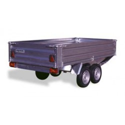 Remolque de carga paletizable 3100 tandem con freno