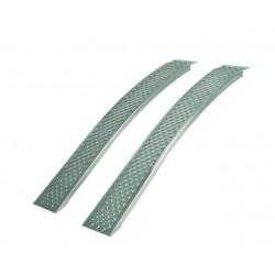 Aluminium curved ramps par 400 kg Largo 1500