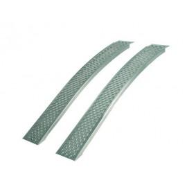 Rampas aluminio curvadas 400 Kg Largo 2000 mm