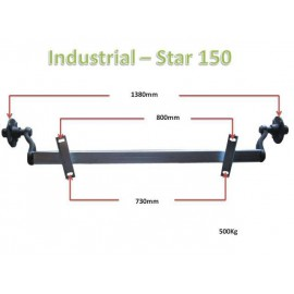 500kg unbraked axle