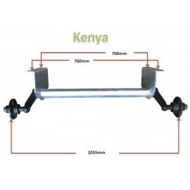 500kg KENYA unbraked axle