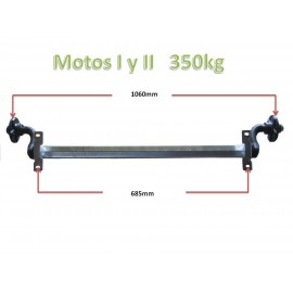 350kg unbraked axle