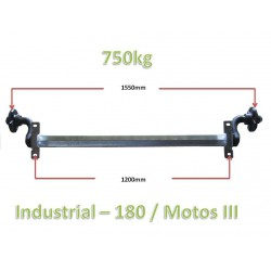 750kg unbraked axle