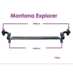 EJE SIN FRENO MONTANA EXPLORER 750 kg