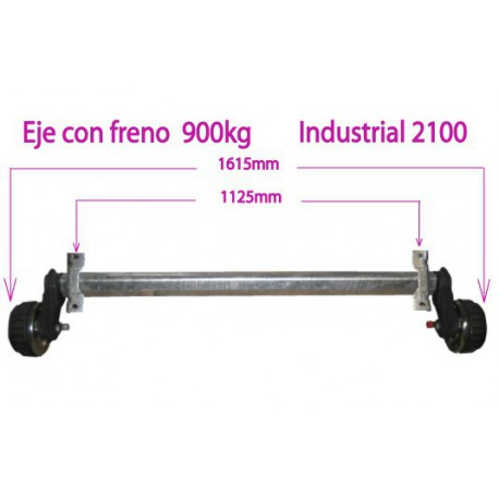 900 kg braked axle