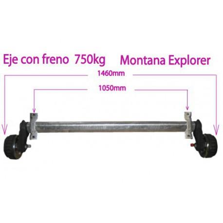 EJE MONTANA EXPLORER CON FRENO 750 kg
