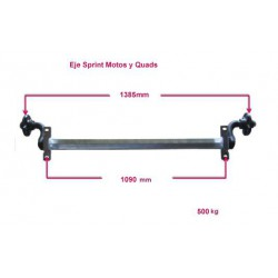 Sprint Motos III/Quads axle 500 kg