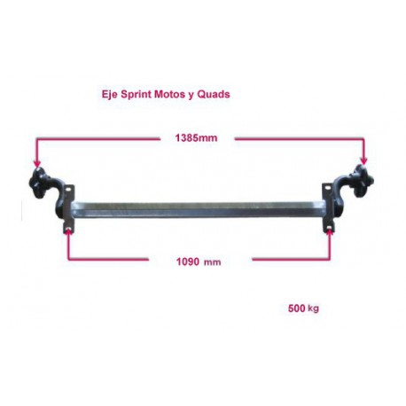 Sprint Motos III/Quads axle 500 kg