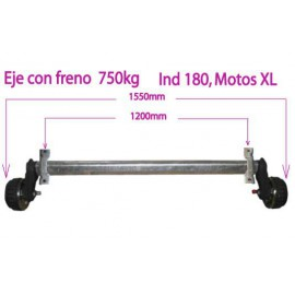 750kg braked axle
