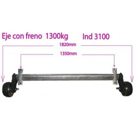 1300kg braked axle