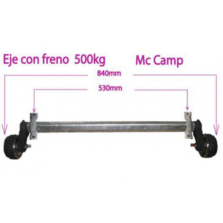 EJE CON FRENO 500 KG MC CAMP