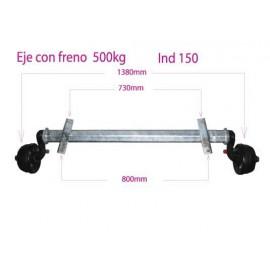 EJE CON FRENO 500 KG IND 150