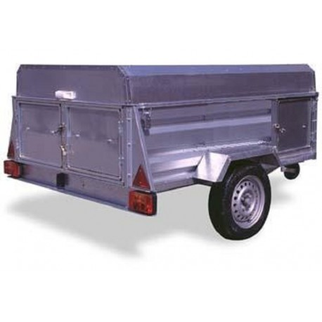 Trailer IND-2100 Dog 4 divisions with Brake