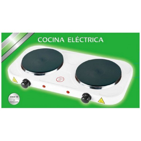 Cocina Electrica 2 Fuegos Maxell (2000W)