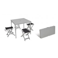 Conjunto mesa con 4 taburetes Ixeo