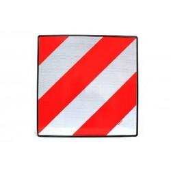 Plaque de signalisation de charge saillante.